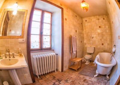 Manoir La Ceiba - Salle de bain Chambre Verte