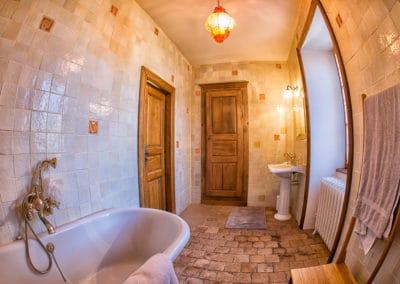 Manoir La Ceiba - Salle de bain Chambre verte 2