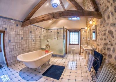 Manoir La Ceiba - Salle de bain bleue